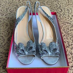 Kate Spade Silver Heels